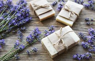 Lavender and soap photo