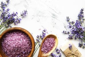 Natural  herb cosmetic with lavender photo