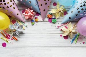 feliz cumpleaños o fiesta de fondo foto