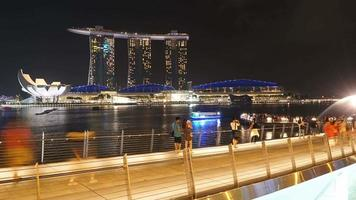 Time lapse of Singapore city video