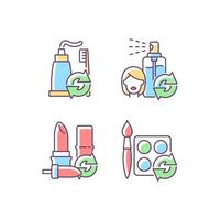Refill and reuse RGB color icons set vector