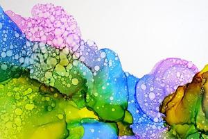 Part of original alcohol ink painting photo