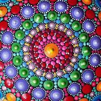 Part of beautiful mandala hand painted photo