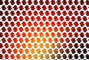 Light Red, Yellow vector template with lava shapes.