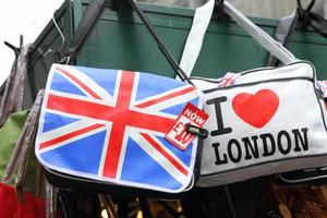 Tienda de souvenirs en Londres, Gran Bretaña. foto