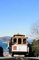 Historic traditional Cable Cars Down Town San Francisco photo