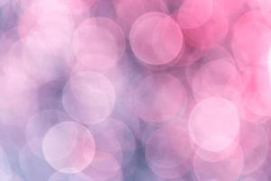 Abstract blurred background with pink-blue color and highlights photo