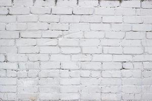 Painted in white brick wall photo