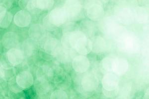 Green blurred bokeh background with highlights photo