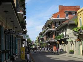 Bourbon Street at the French Quarter in New Orleans, Louisiana photo