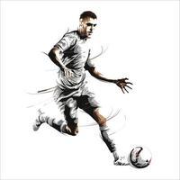 football soccer dribble run vector