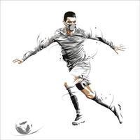 football soccer dynamic splatter dribbling ball vector