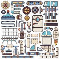 steam punk spare parts vector