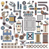 machinery components and spare parts vector
