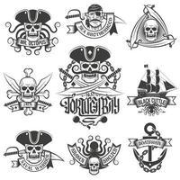 Corsair logo set in vintage style vector