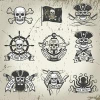 Pirate signs set. Jolly Roger vector