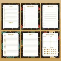 Set of paper notes print concept templates. vector