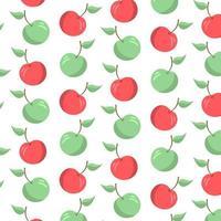 Manzana de patrones sin fisuras, fondo abstracto repetido. vector