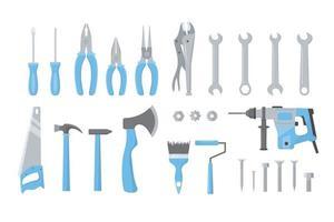 Construction tools. Building repair hand tools. vector