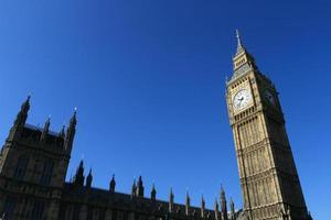El Big Ben y el Palacio de Westminster en Londres, Gran Bretaña. foto
