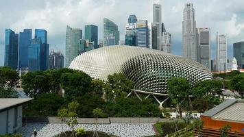 Time lapse of Buildings in Singapore city Daylight video