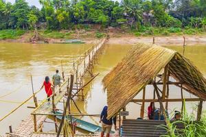 Luang Prabang, Laos 2018- Welcome to the Mekong River Bamboo Bridge Luang Prabang Laos photo