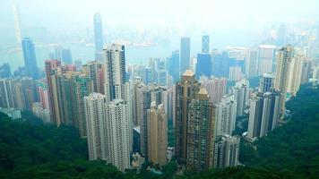 Beautiful building and architecture around Hong kong city skyline video