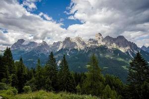 Dolomites in San Martino Di Castrozza, Trento, Italy photo