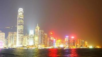hermoso edificio y arquitectura alrededor del horizonte de la ciudad de hong kong video
