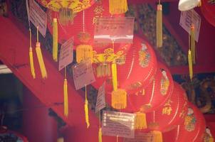 Chinese new year lanterns in Chinatown photo