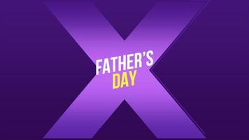 Animation text Fathers day ongradient background with blue cross video