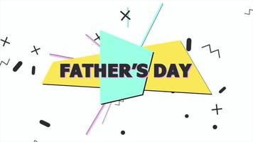 Father Day and motion abstract geometric small shapes video
