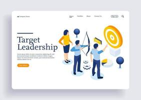Running people target forward leadership climbing your way job action vector