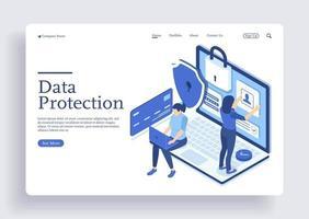 concepto de protección de datos tarjeta de crédito verificar los datos de acceso como confidenciales vector