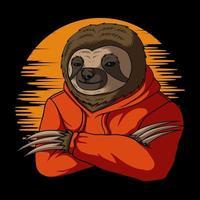 Stylish sloth vector illustration