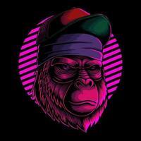 Cool gorilla head vector illustration