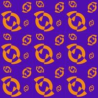 Pattern two slices in an orange circle and a purple background vector