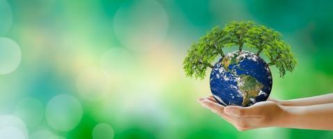 salud mental mundial y día mundial de la tierra. foto