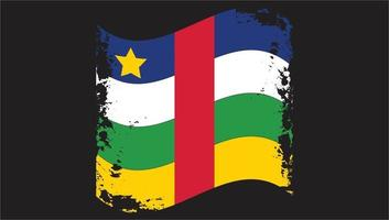 Central African Republic Country  Wavy Flag  Brush vector