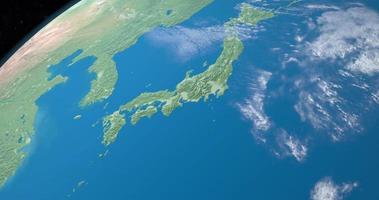 mer du japon sur la planète terre, vue aérienne de l'espace video