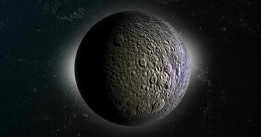 satellite mimas, lune de saturne, tournant dans l'espace video