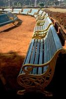 Row of Vacant Benches photo
