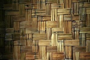 tiras de estera de bambú foto
