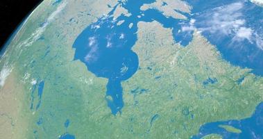 la baie d'hudson sur la planète terre, vue aérienne de l'espace video