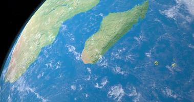 île de madagascar sur la planète terre, vue aérienne de l'espace video