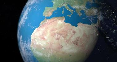 désert du sahara sur la planète terre, vue aérienne de l'espace video