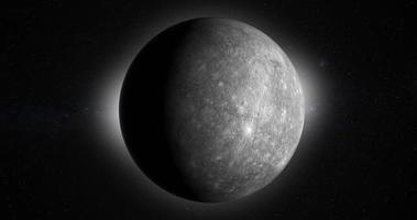 planète de mercure tournant dans l'espace extra-atmosphérique video