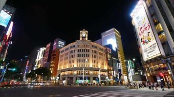 hermoso edificio de arquitectura en la ciudad de tokio, japón video