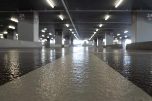 Surface coating of the parking flooring photo