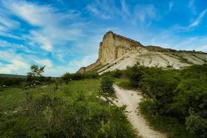 Landscape with a view of the White Rock in the Crimea photo